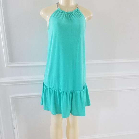 Michael Kors Dresses & Skirts - Green midi halter dress